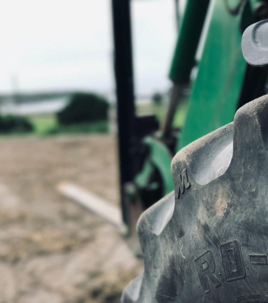 Traktor nærbilde