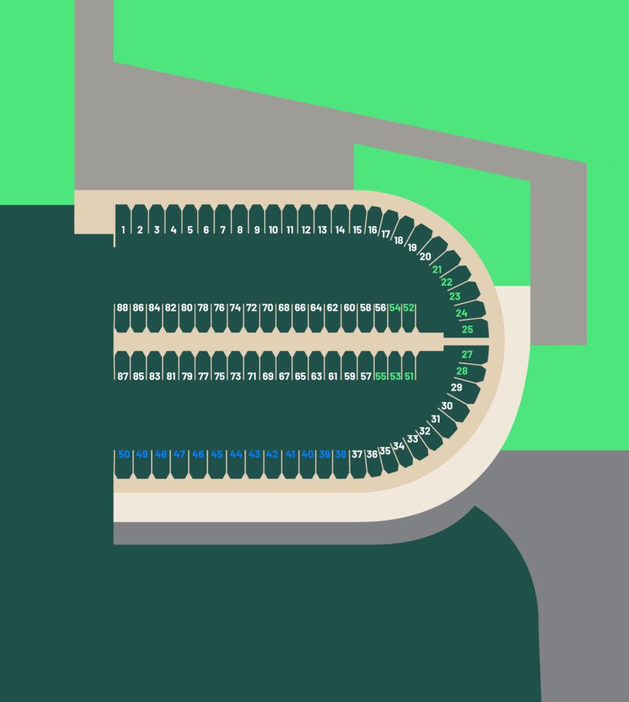 Kart over båthavnen til Bakke gård